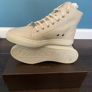 Gucci High Top Mystic White Sneakers